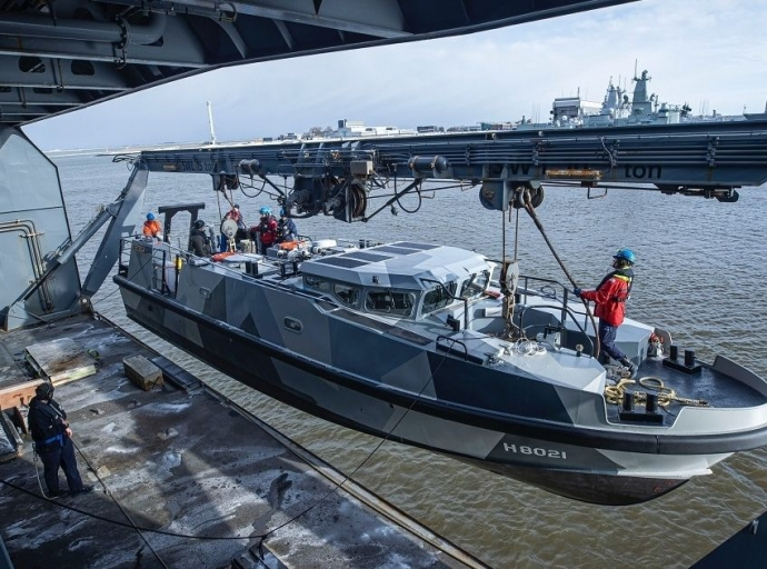 Expeditionary Survey Boat Hydrograaf Named at Damen Shipyards Den Helder