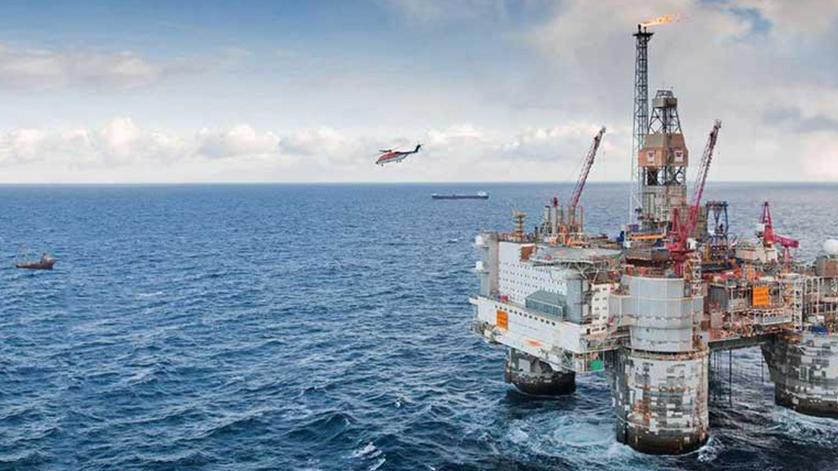Deep Ocean Oil Rig