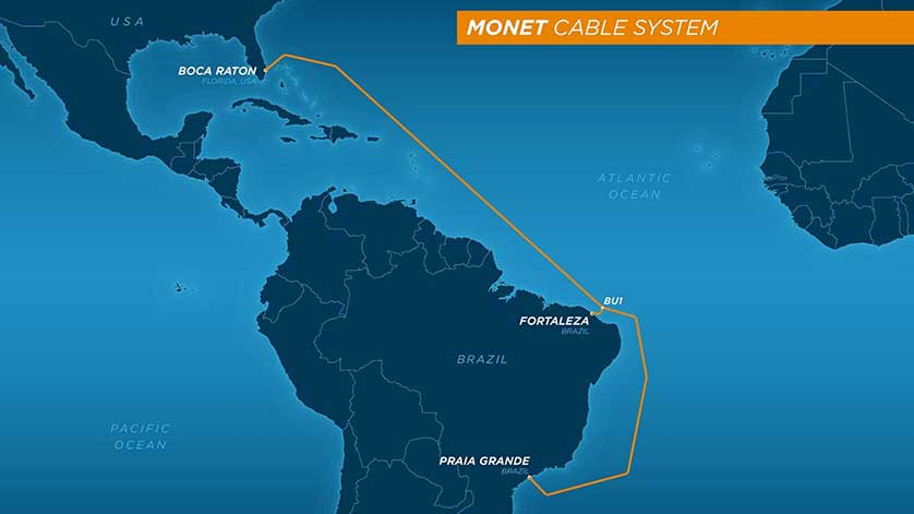 Monet Cable System Is Ready for Service