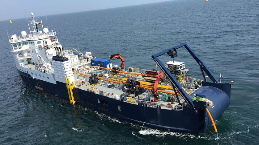 M-Tech Offshore's DP-2 Cable Laying Vessel, CLV SIA