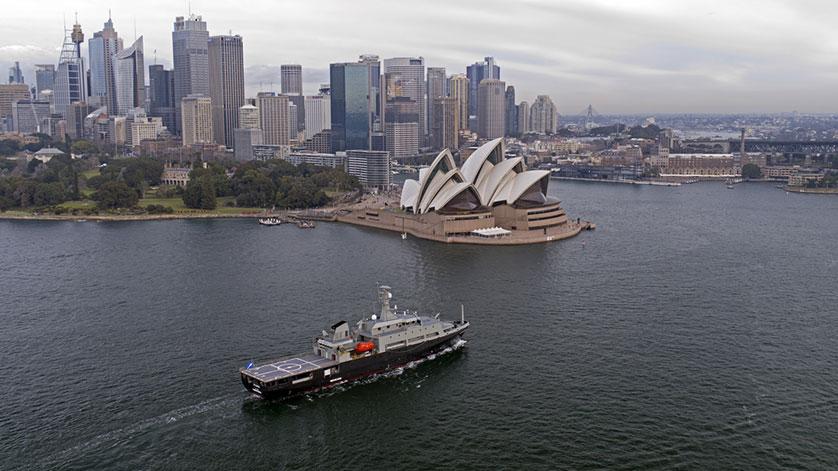 Australian Navy MATV Arrives in Home Port of Sydney