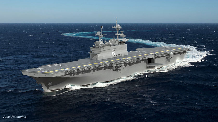 Huntington Ingalls Industries Awarded Contract for LHA 8