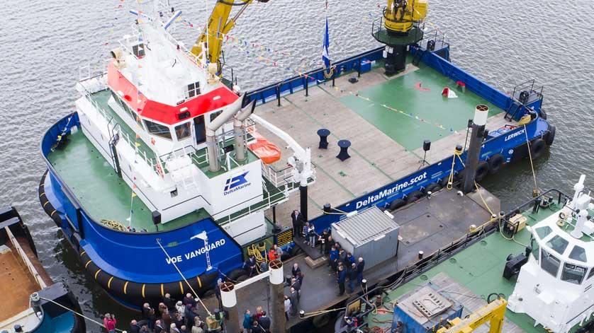 Damen Launches Voe Vanguard, Its First Renewables Service Vessel