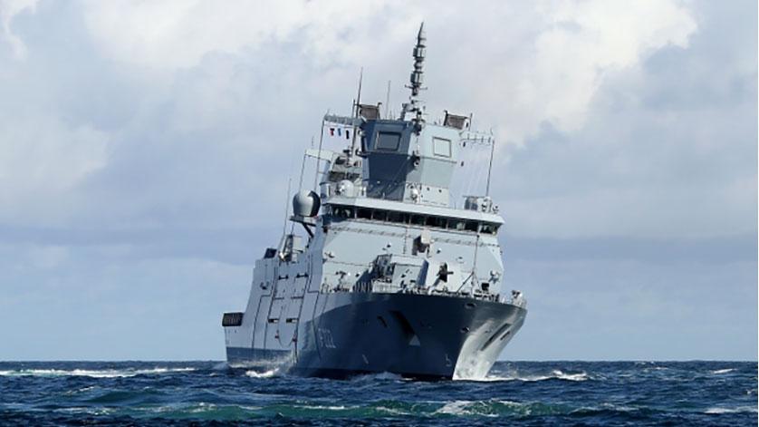 Germany Navy Frigate Rheinland-Pfalz Christened in Hamburg