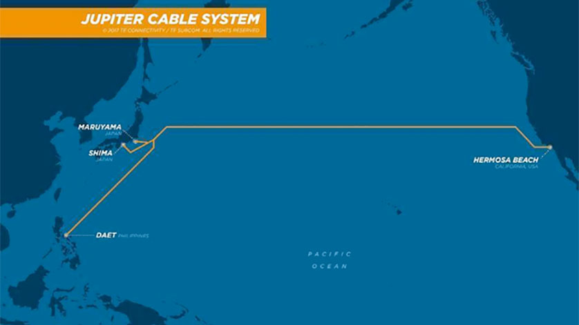TE SubCom Announces Contract In Force For JUPITER Transpacific Cable