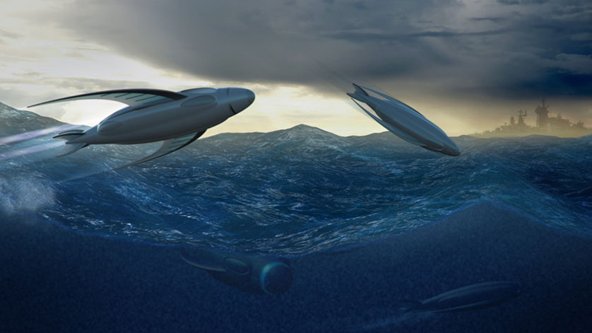 Flying Submarine Envisaged by Saab Seaeye Engineer