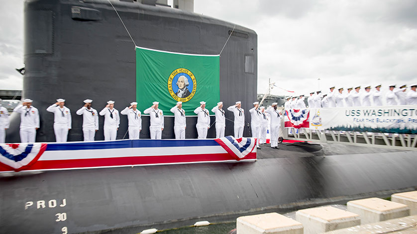 Submarine USS Washington Commissioned at Naval Station Norfolk