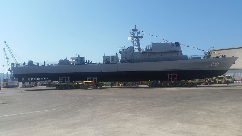 Israel Shipyards Launched Offshore Patrol Vessel for the Cyprus Navy