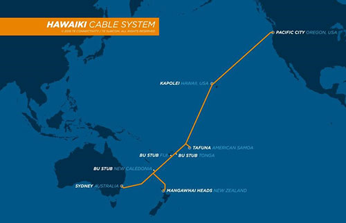 2Hawaiki Cable System Map 9.25