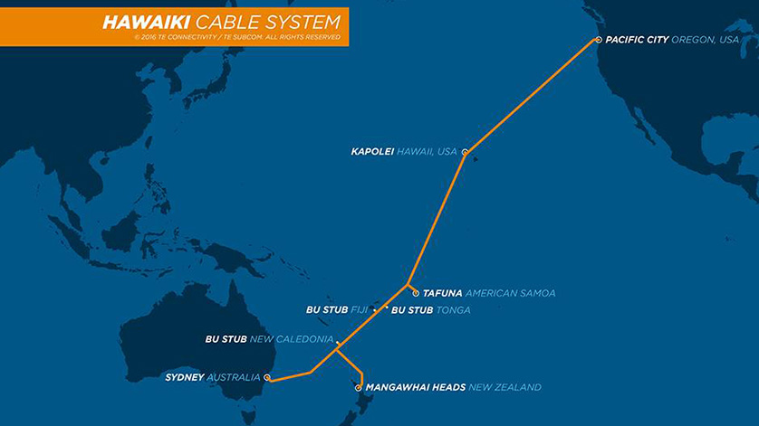 Hawaiki Transpacific Cable System Ready for Service in June 2018