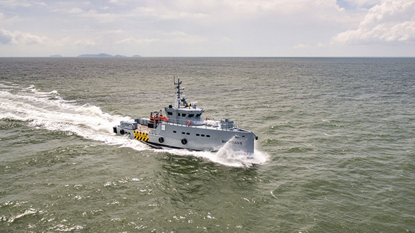 Homeland Signs for Sixth Damen 3307 Patrol