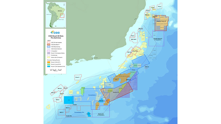 CGG Adds New Santos VIII Multi-Client Survey Offshore Brazil