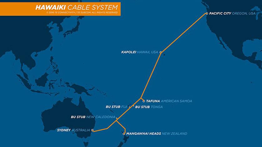 TE SubCom Announces Final Splice of Hawaiki Cable Complete