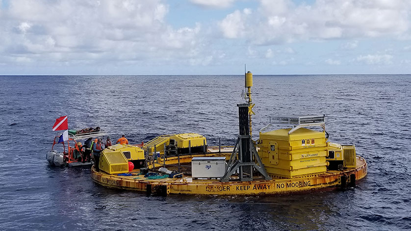 Wave Energy Converter Gets Tested at WETS Navy Testing Proves Device Can Power Oceanographic Instrumentation