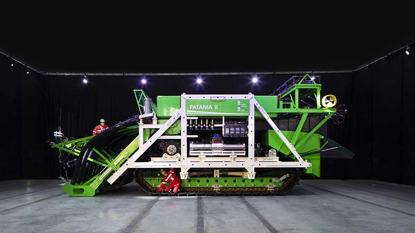 A Subsea Vacuum on Caterpillar Tracks: DEME to Test Deepsea Nodule Collector
