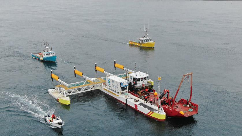 The PLAT-I Tidal Energy System Arrives in Nova Scotia