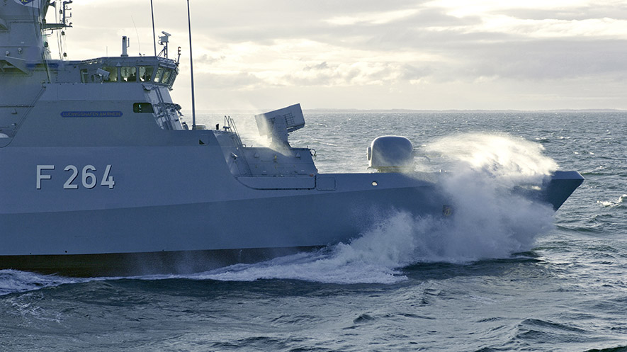 NOK K130 copyright Luerssen Werft - The ways in which you can better your maritime supply chain efficiency.