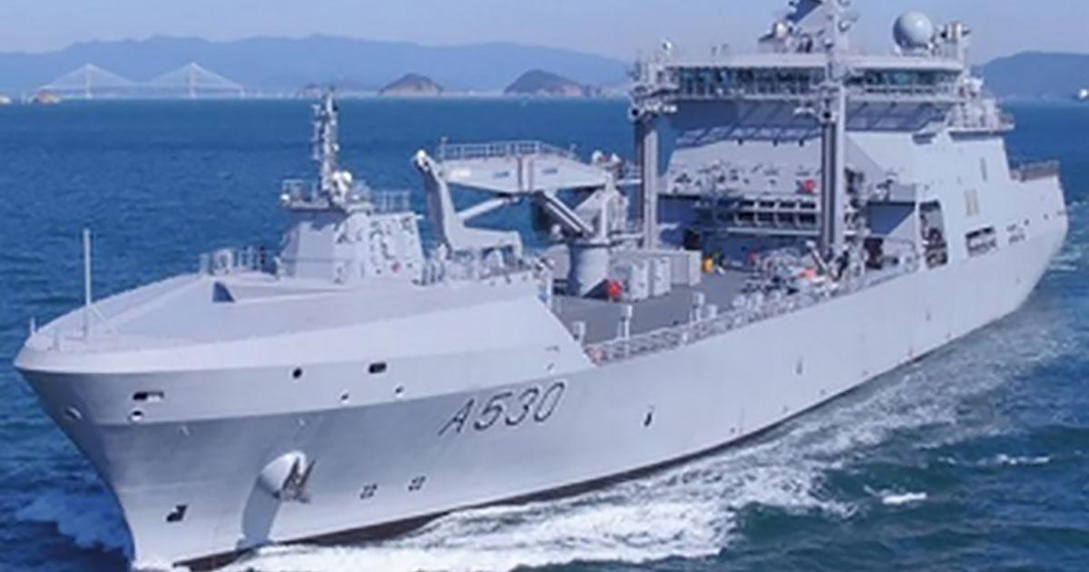 PAP-6000 Davits for the Royal Norwegian Navy`s Largest Ship