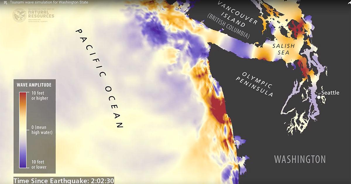 Featured Video: Tsunami Simulations for Washington State Reveal Devastating Impacts