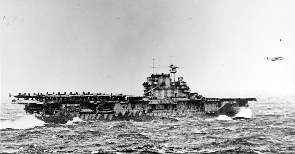 Wreckage of World War II Aircraft Carrier Located in South Pacific