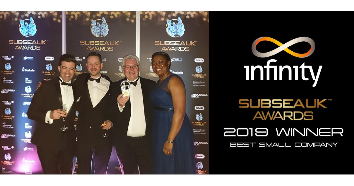Infinity Wins Best Small Company of the Year Award from Subsea UK