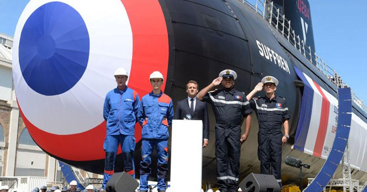Naval Group Launches First Nuclear Powered Submarine Suffren