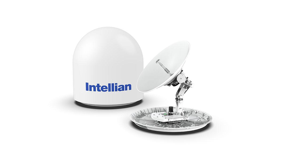The Intellian v100NX Cutting-Edge 1m Dual-Band Convertible Antenna