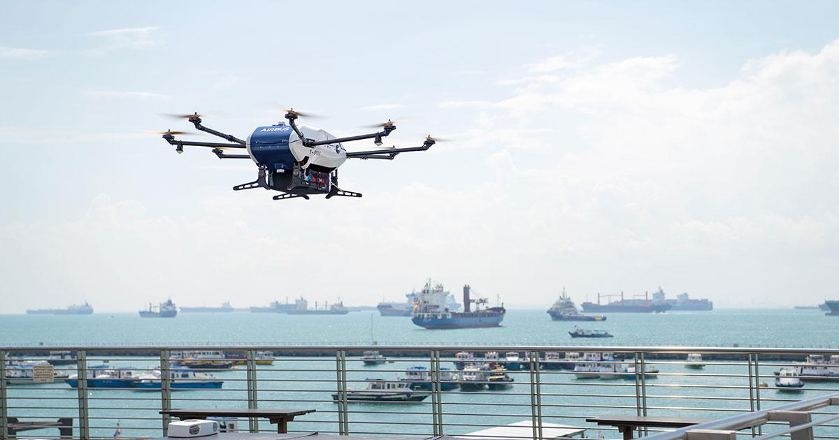 Airbus' Skyways Drone Trials World's First Shore-to-Ship Deliveries