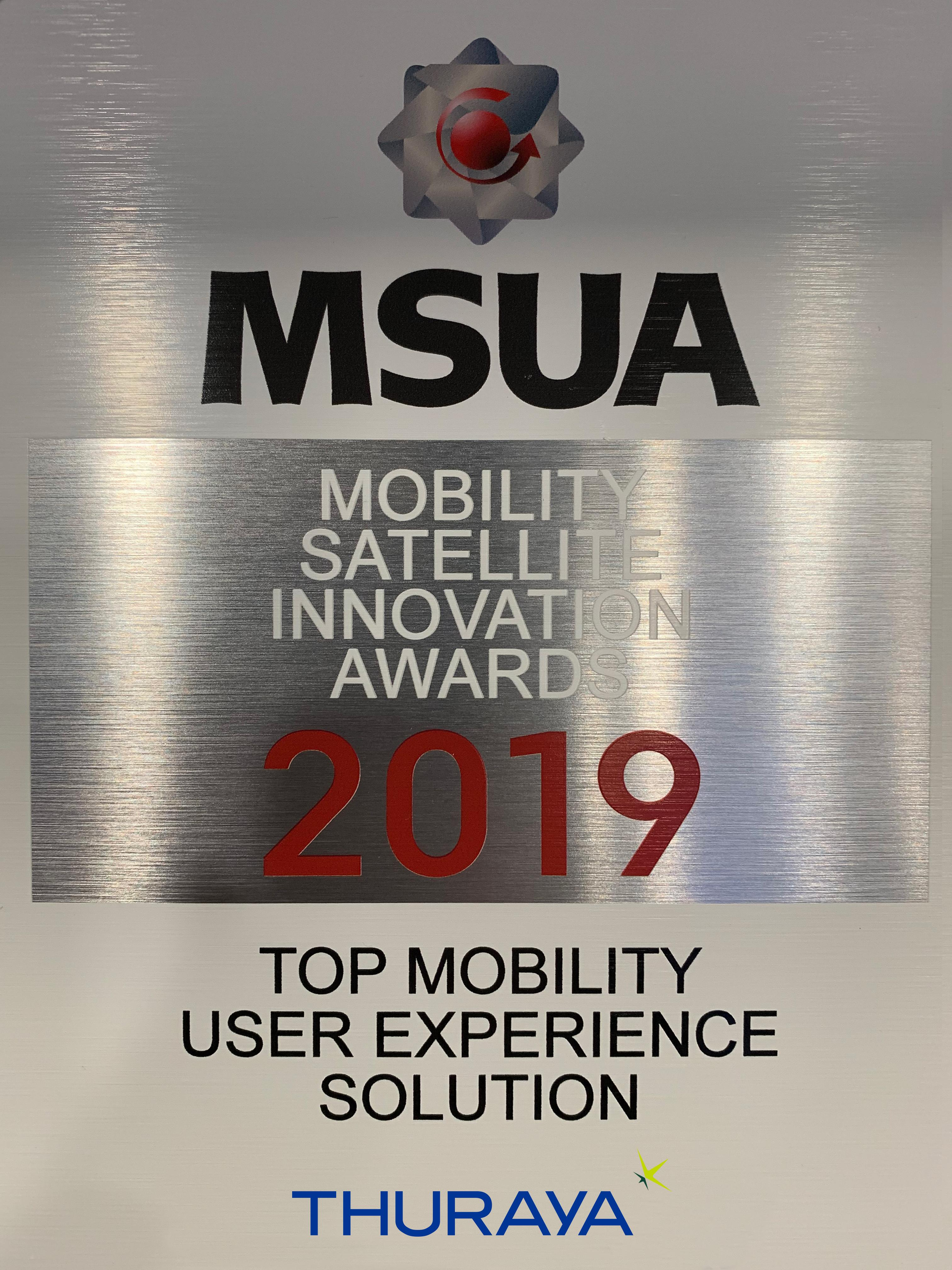 2 MSUA Award for Thuraya X5 Touch