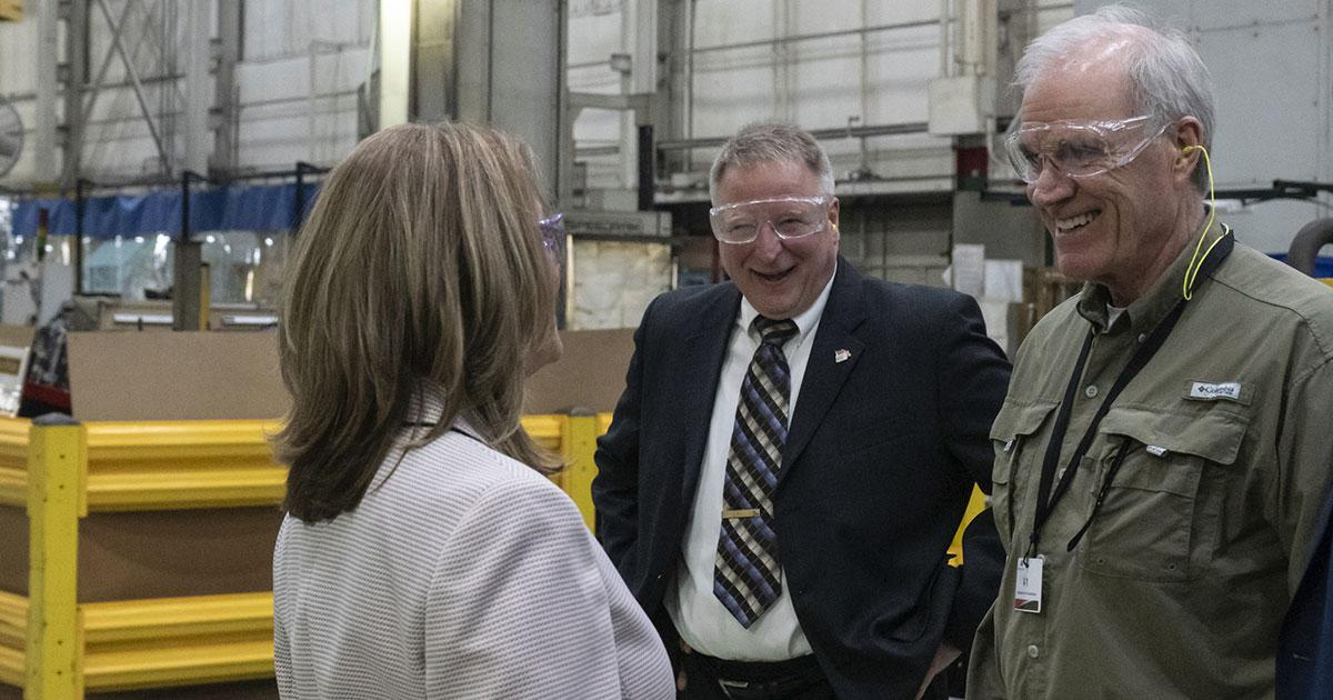 US Secretary of the Navy Visits Fairbanks Morse's Beloit Facility