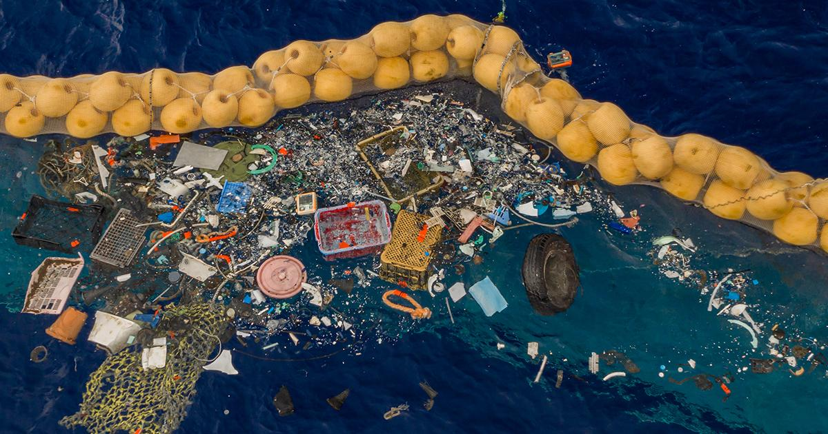 The Ocean Cleanup Successfully Catches Plastic in the Great Pacific Garbage Patch