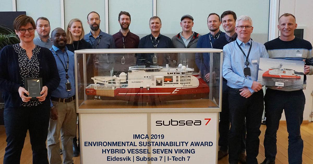 Seven Viking Wins IMCA Environmental Sustainability Award 2019