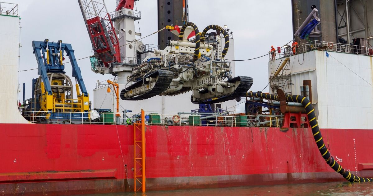 Van Oord's Deep Dig-It Trencher Connecting Offshore Windfarms