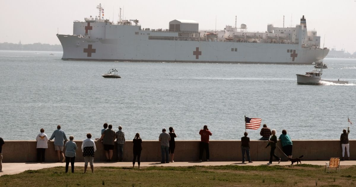 USNS Comfort Underway to Support New York City