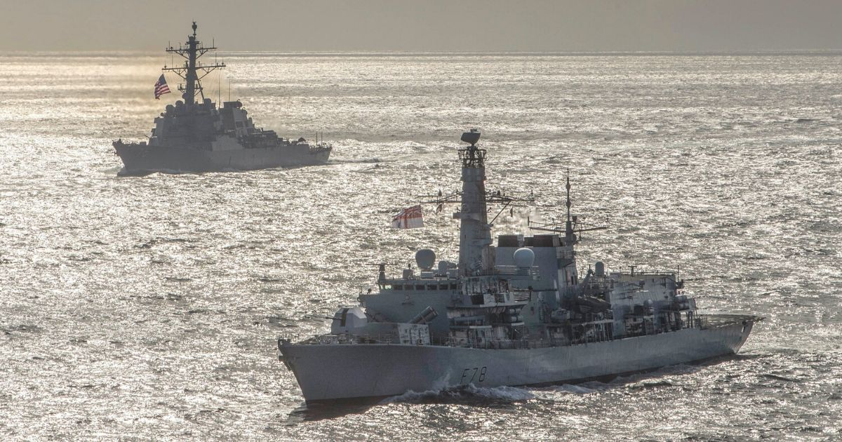 U.S. and British Ships Depart Barents Sea after Arctic Operations