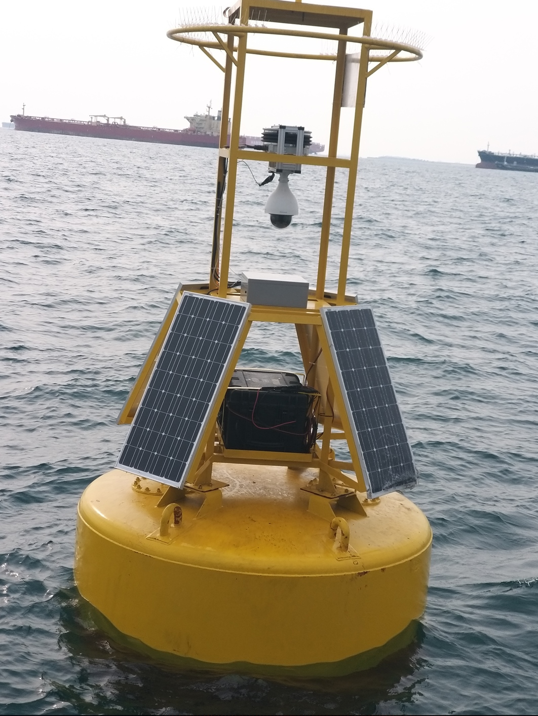2 Gyro Stabilization Mount RSM 400 with PTZ camera mounted on buoy