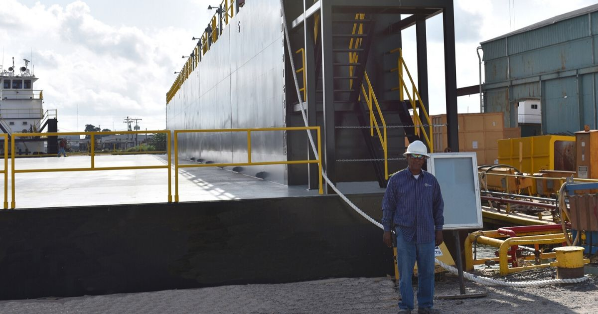 """Bollinger Quick Repair Takes Delivery of New Dry-Dock – """"Mr. Eddie"""""""