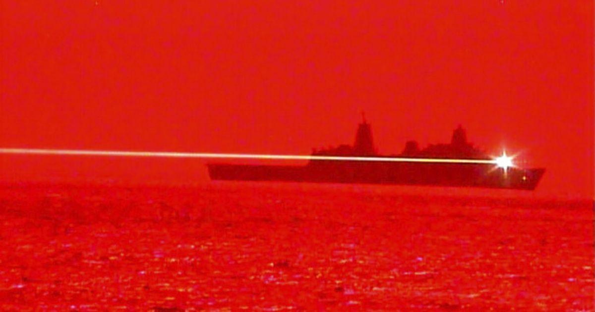 USS Portland Conducts Laser Weapon Demonstrator Test