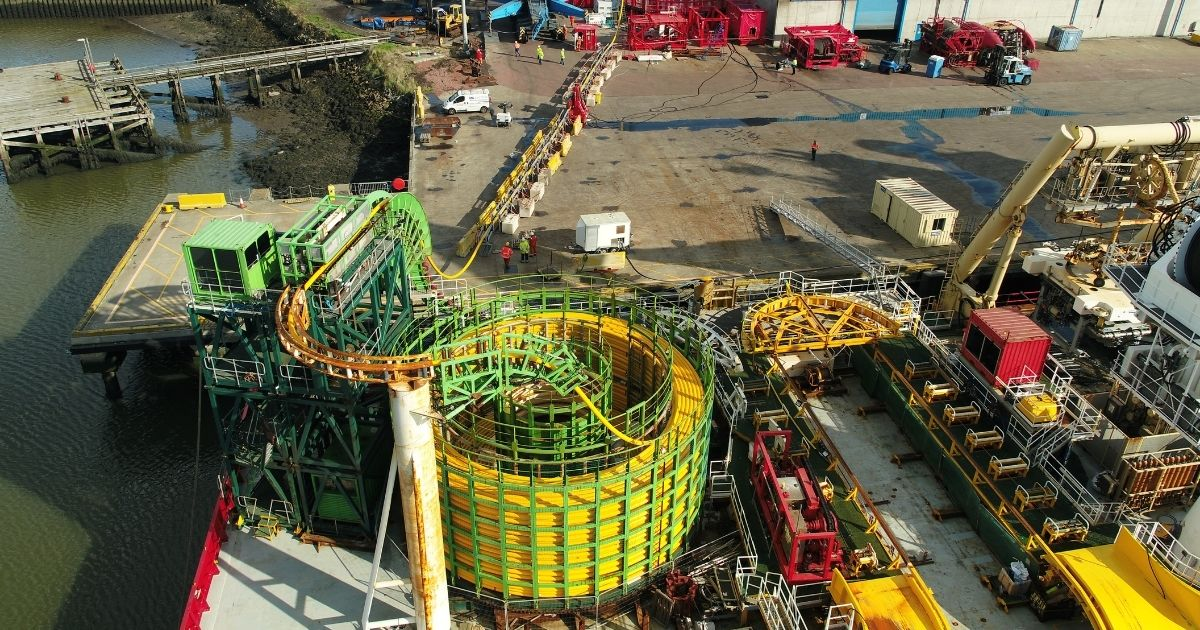 Global Offshore Installs New Power Cable Carousel at the Port of Blyth