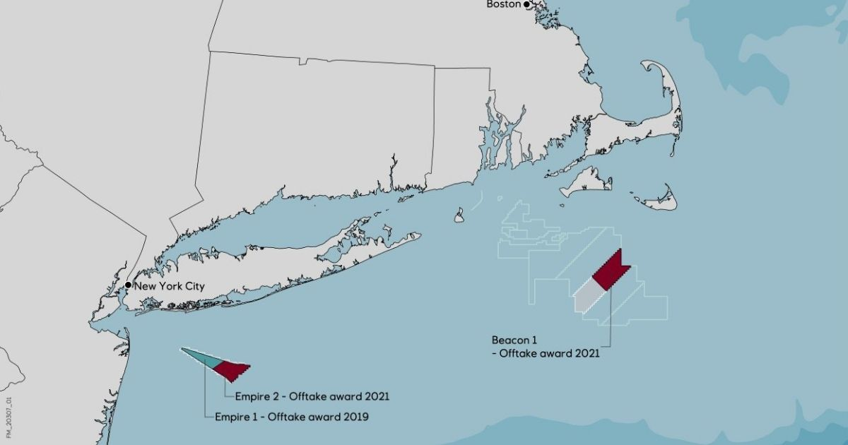 Equinor Selected for US Largest Offshore Wind Award