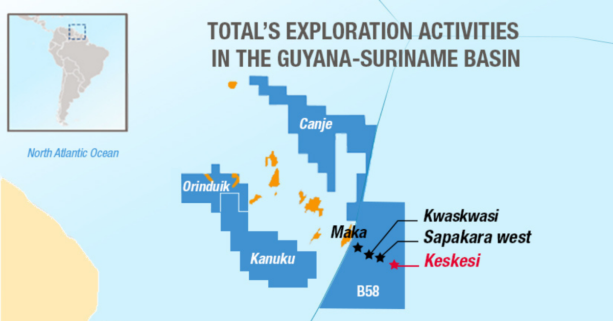 Total and Apache Make Significant Oil & Gas Discovery Offshore Surinam
