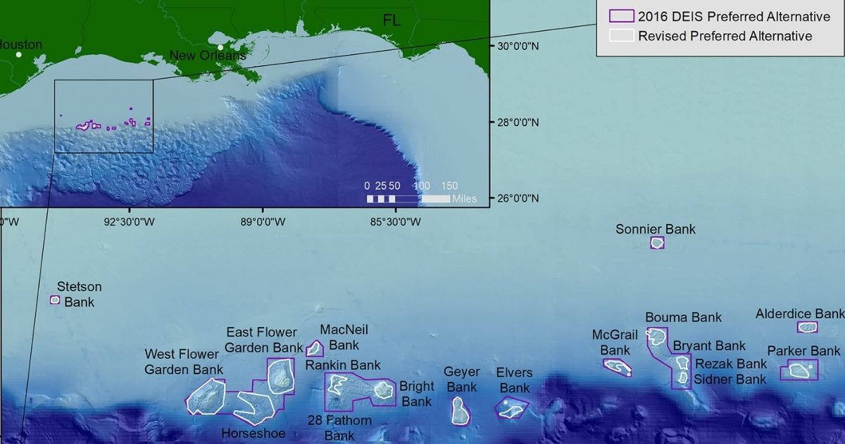 NOAA expands Flower Garden Banks National Marine Sanctuary in the Gulf of Mexico